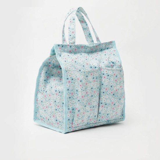 All-Over Print Lunch Bag with Twin Handle and Zip Closure