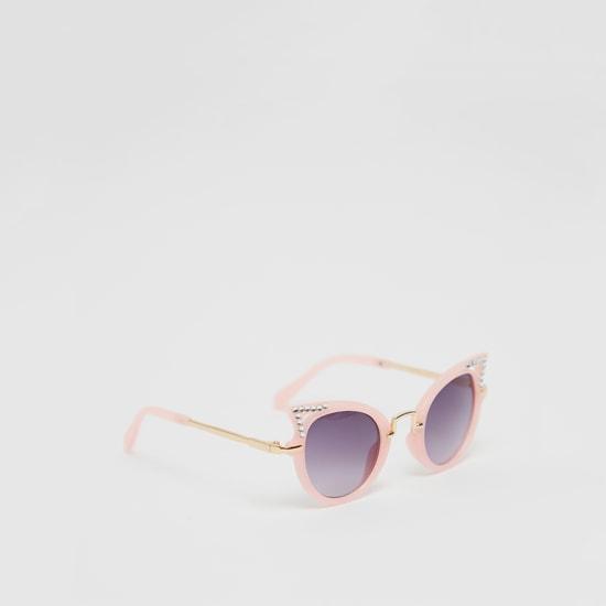 نظارة شمسية كات آي مرصعة بالأحجار