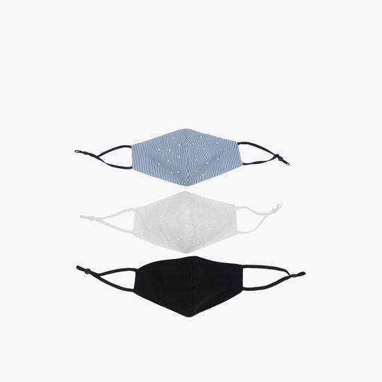 قناع وجه متنوع قابل لإعادة الاستخدام وبأحزمة قابلة للتعديل- طقم من 3 قطع