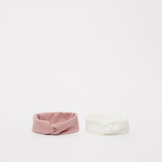 Set of 2 - Textured Hair Band with Knot Detail