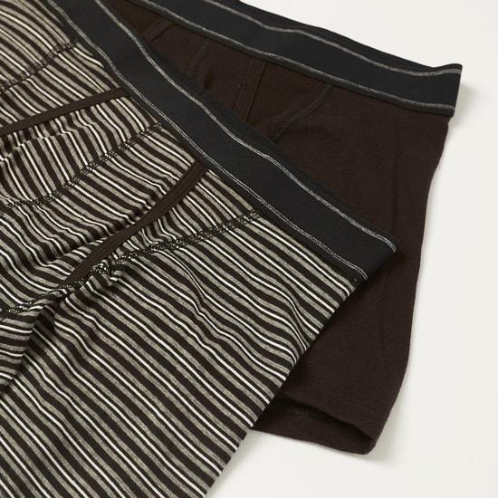 سراويل بوكسر متنوعة بحزام خصر مطّاطي - طقم من قطعتين