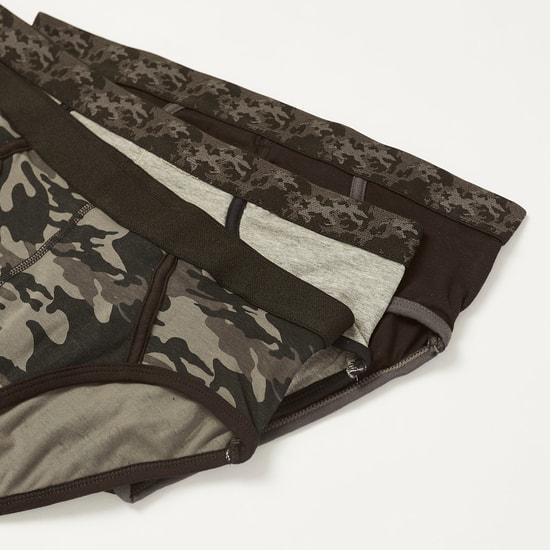 سراويل داخلية متنوعة بحزام خصر مطاطي- طقم من 3 قطع