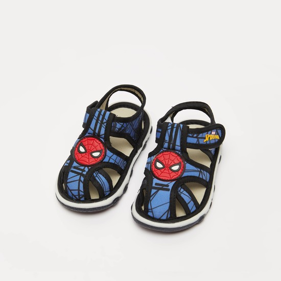 Spider-Man Sandals with Hook and Loop Closure