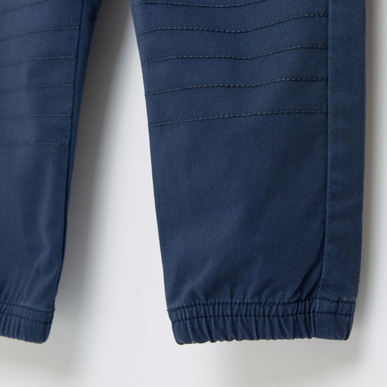 Solid Jog Pants with Pockets and Elasticised Closure