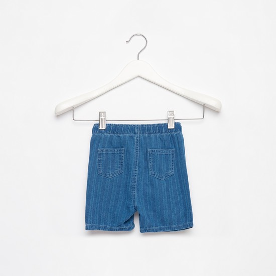 Striped Shorts with Drawstring Closure and Pockets