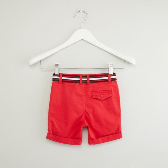 Pocket Detail Shorts with Belt
