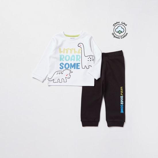 Printed Long Sleeves T-shirt and Jog Pants Set