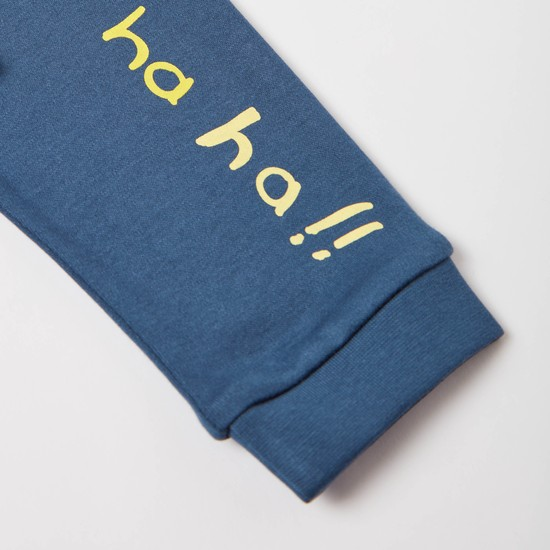 Monkey Print Short Sleeves T-shirt and Jog Pants Set
