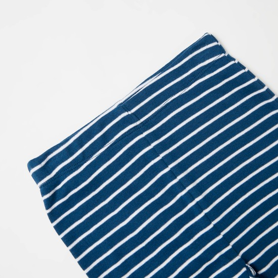 Striped Short Sleeves T-shirt and Jog Pants Set