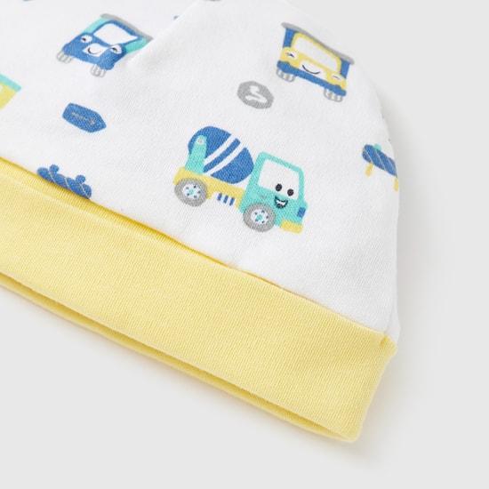 طقم بدلة نوم وقبعة بطبعات شاحنة