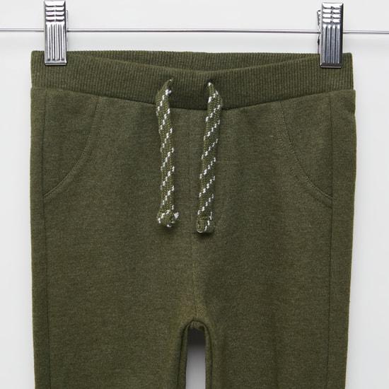 Printed Jog Pants with Pocket Detail and Drawstring Closure
