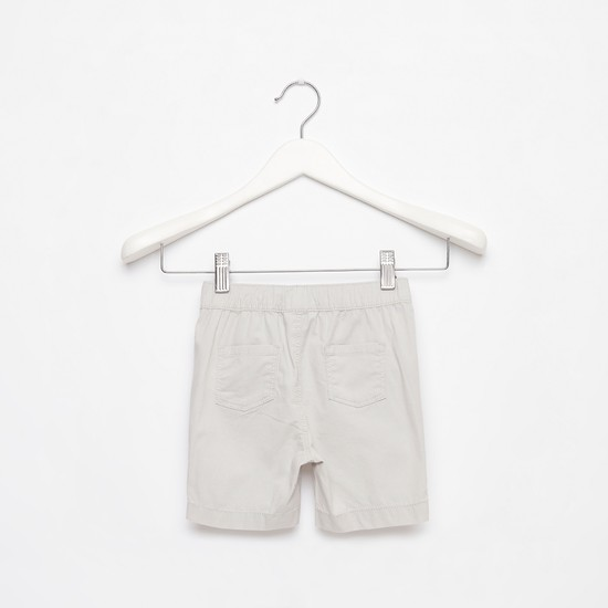 Solid Shorts with Drawstring Closure and Pockets
