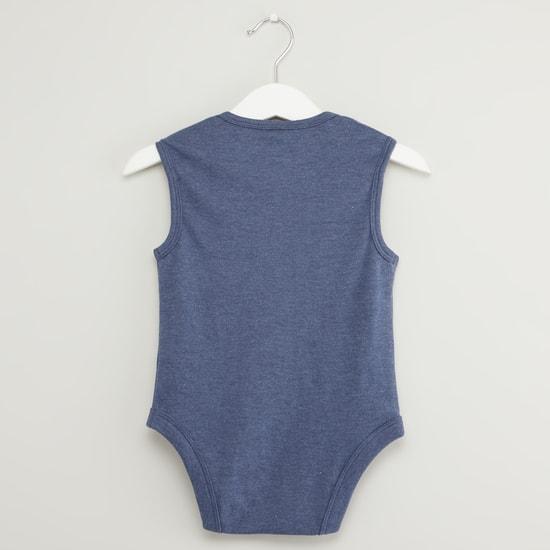 Set of 3 - Text Print Sleeveless Bodysuit