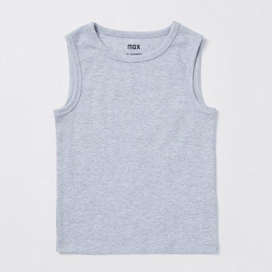 Pack of 3 - Ribbed Round Neck Sleeveless Vest