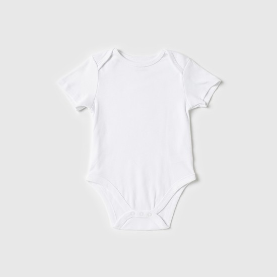 Set of 3 - Plain Bodysuit with Short Sleeves