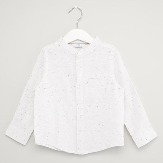 طقم شورت وقميص بأكمام طويلة وطبعات