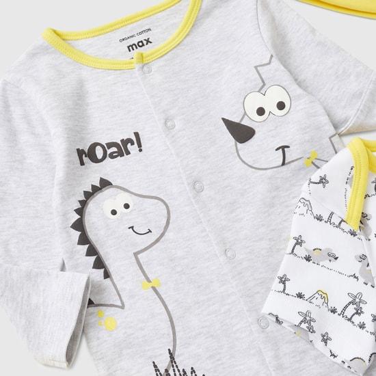 Dinosaur Print 4-Piece Clothing Set