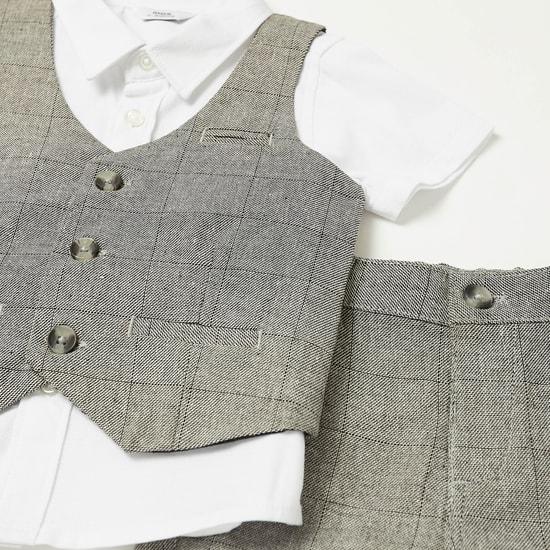 طقم ملابس 3 قطع كاروهات
