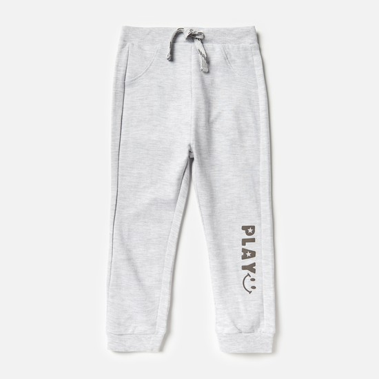 Solid Jog Pants with Slip Pockets and Elasticated Waistband