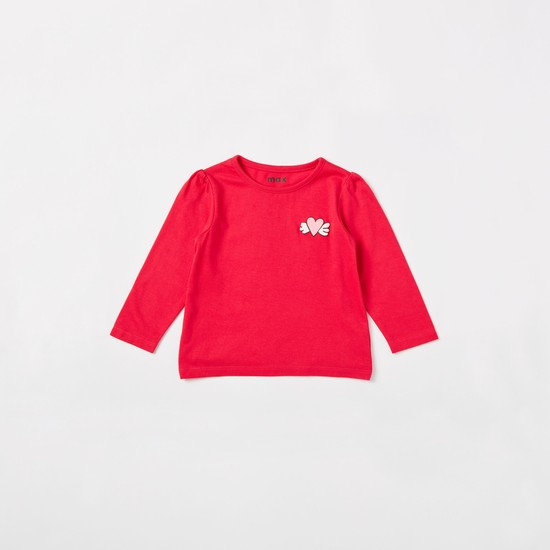 Pack of 3 - Printed T-shirts with Round Neck and Long Sleeves