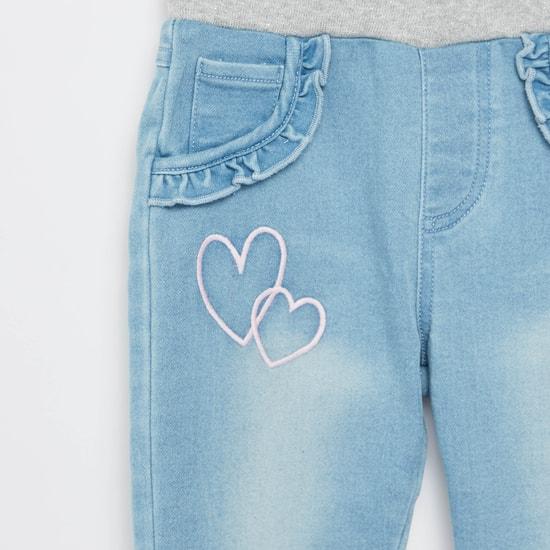 بنطلون جينز بخصر مضلّع و5 جيوب