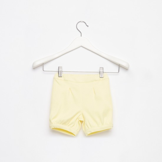 Jacquard Textured Shorts with Elasticated Waistband