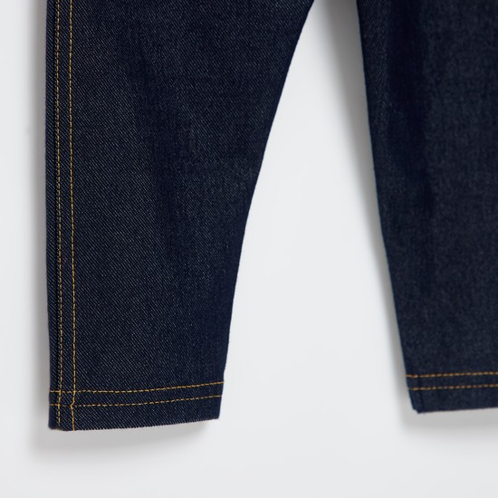 Full Length Dark Wash Jeggings with Pockets and Elasticated Waistband