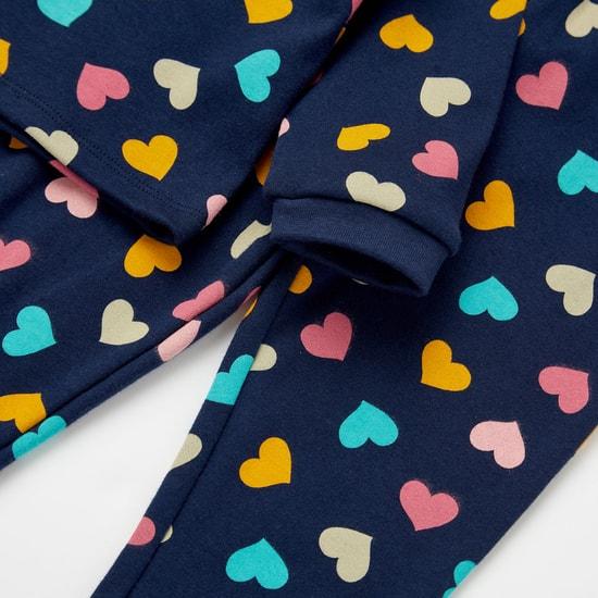 Graphic Print GOTS Organic Cotton T-shirt and Full Length Pyjama Set