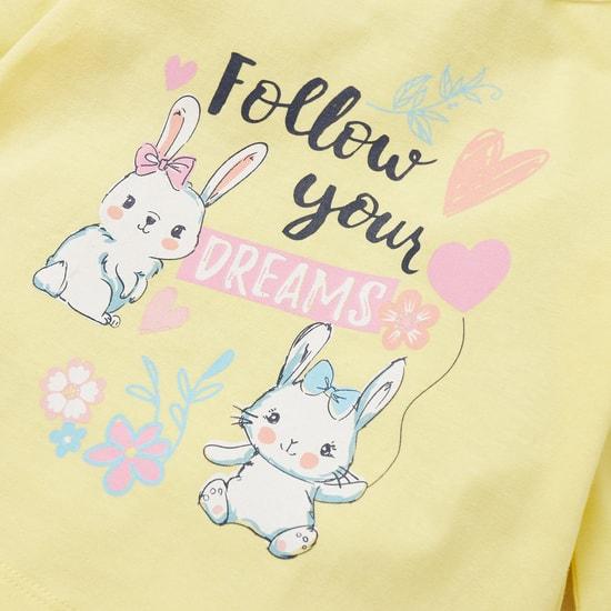 Bunny Print 4-Piece Sleepwear Set