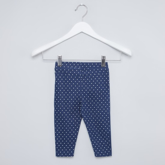 Printed Jeggings with Elasticised Waistband