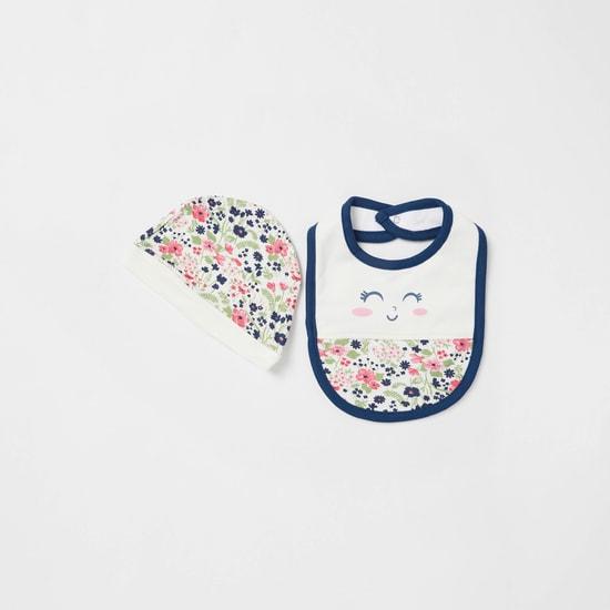 طقم ملابس إهداء بطبعات أزهار - 4 قطع