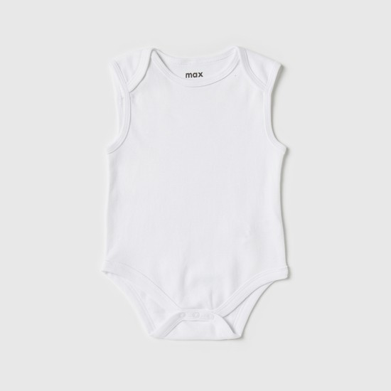 Set of 3 - Plain Bodysuit with Press Button Closure
