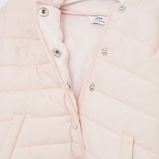 Gilet Jacket with Long Sleeves and Pockets