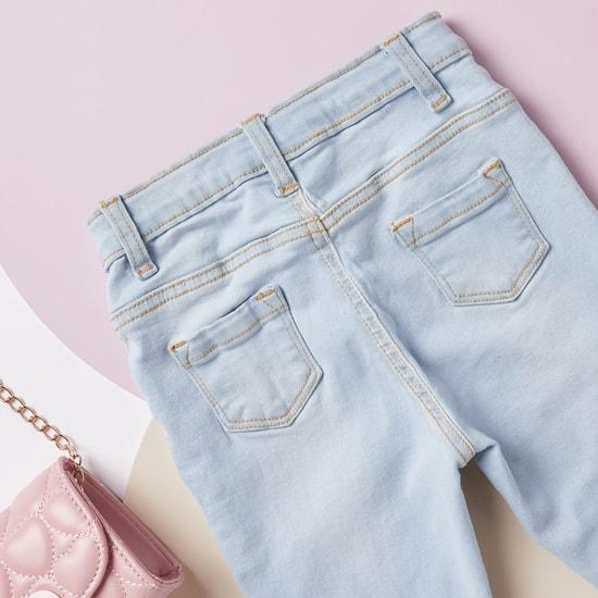 بنطلون جينز طويل كومفورت فيت بـ5 جيوب