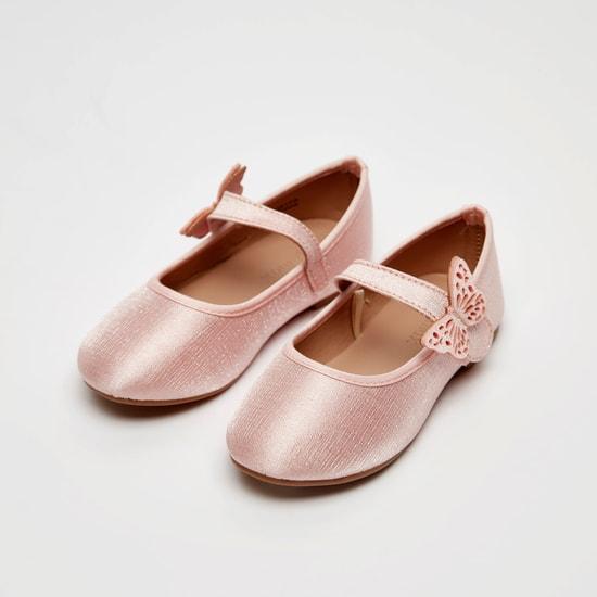 حذاء باليه مسطح بتزيينات فراشة