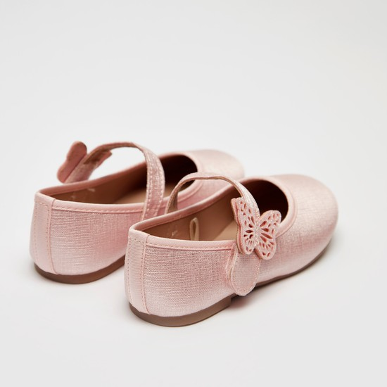 Ballet Flats with Butterfly Accent