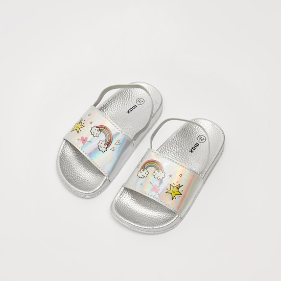حذاء سهل الإرتداء بطبعات وإغلاق مطاطي