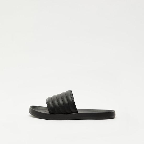 Solid Slip-On Sandals