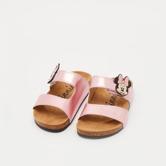 Minnie Mouse Sandals with Applique Detail Straps