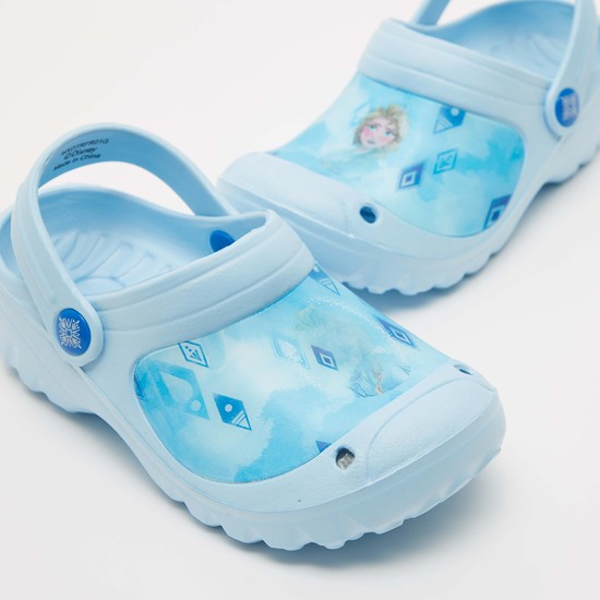 3D Effect Frozen Print Slip-On Clogs