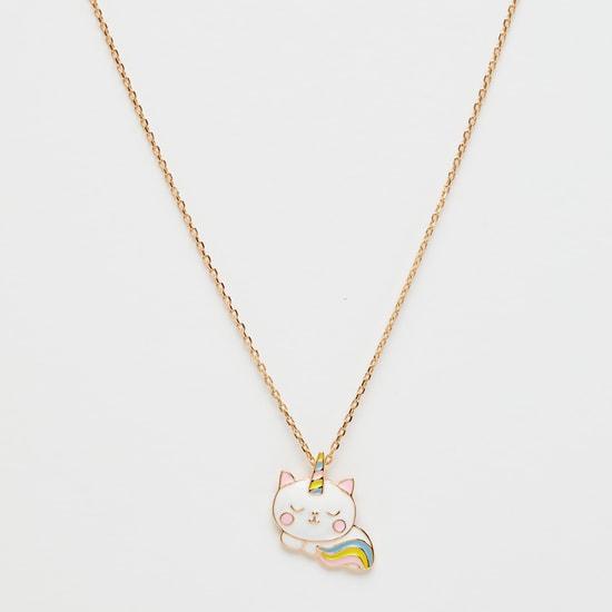 طقم مجوهرات بزخارف يونيكورن - 3 قطع