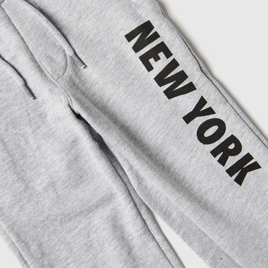 Printed Anti-Pilling Jog Pants with Pockets and Drawstring Closure