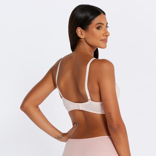 Maternity Bra with Adjustable Straps and Hook and Eye Closure
