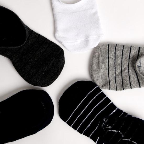 جوارب غير مرئية متنوعة بحوّاف مطّاطية - طقم من 5 أزواج