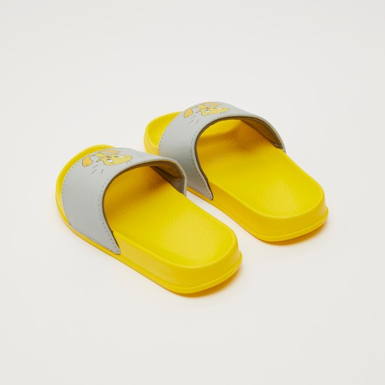 Printed Slides with Tweety Print Vamp Band
