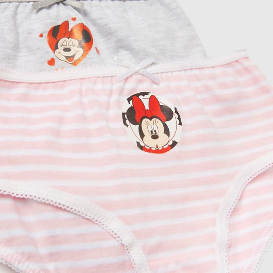 Set of 3 - Minnie Mouse Print Briefs with Elasticised Waistband