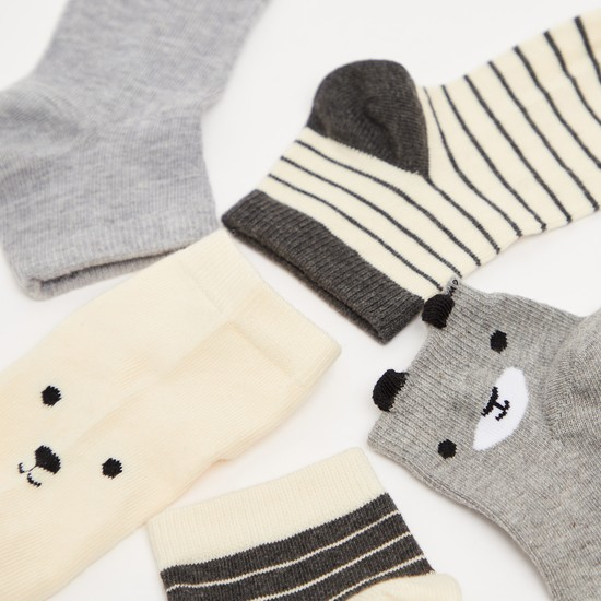 Pack of 5 - Textured Socks with Cuffed Hem