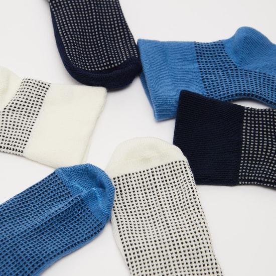 Set of 3 - Textured Slip On Socks
