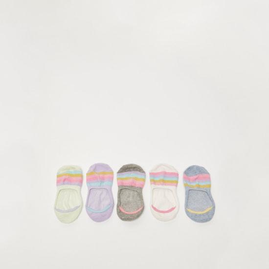 جوارب مقلّمة غير مرئية  - طقم من 5 أزواج