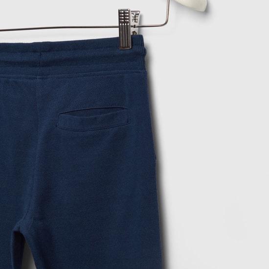 بنطلون كامل الطول منسوج  جريندل بيكيه مع تفاصيل جيب